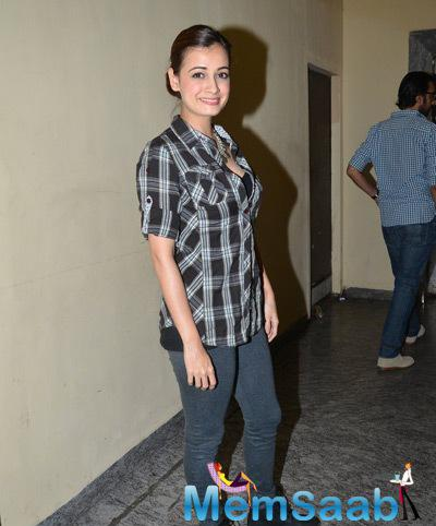 Dia Mirza Attend The Special Screening Of Ugly At PVR