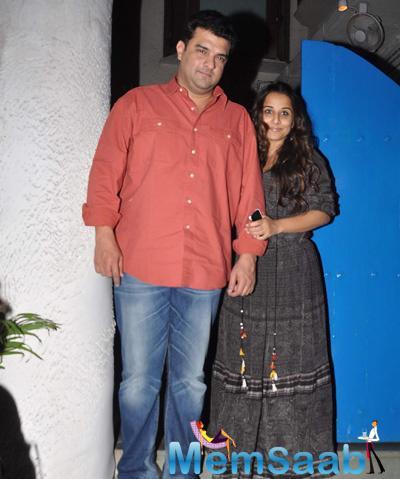 Vidya Balan And Hubby Sidharth Roy Kapur Were Clicked Exiting Bandra's Olive Restaurant