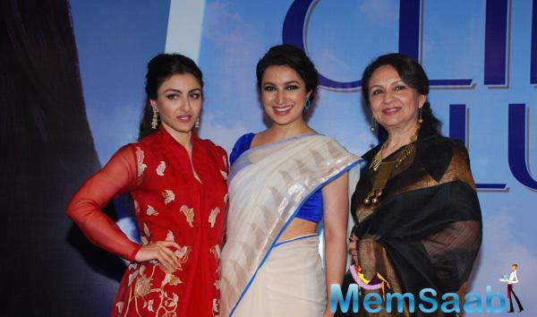 Soha Ali Khan,Tisca Chopra And Sharmila Tagore Posed For Camera During The Clinic Plus Charity Event