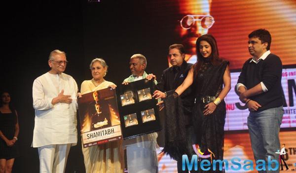 Gulzar,Jaya Bachchan,Ilayaraja And Others At The Film Shamitabh Music Launch