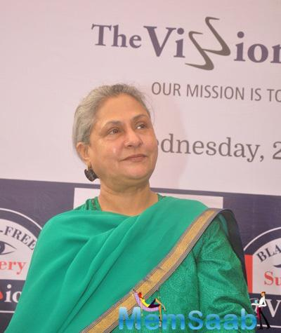 Jaya Bachchan Dazzling Look During The Launch Of Eye Care Technology
