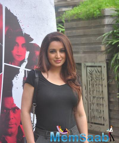 Tisca Chopra Flawless Look During The Launch Of Rahasya Film