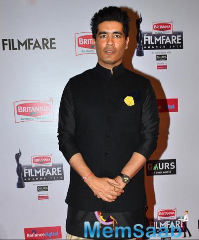 Designer Manish Malhotra Simple Look At 60th Britannia Filmfare Awards 2015