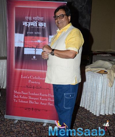 Subhash Ghai Pose During The Book Of Poems Ek Maheena Nazmon Ka Launch Event