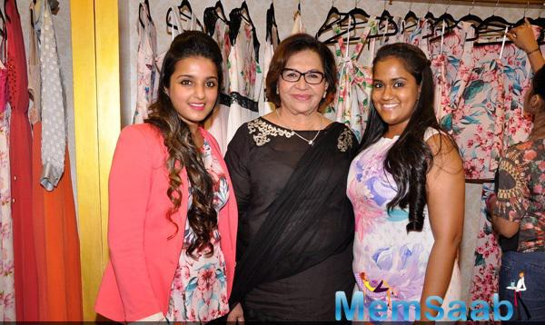 Arpita With Her Mom Helen At Ash Haute Couture Launch Event