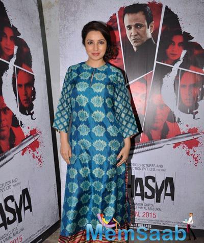 Tisca Chopra Promoted Her Upcoming Movie Rahasya At Mehboob Studio
