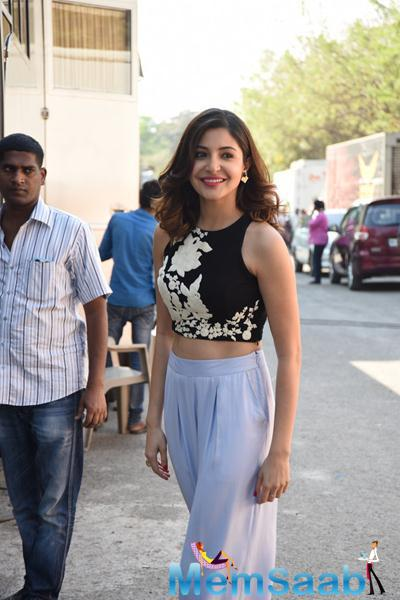 Anushka Sharma Radiant Cool Look During The Promotion Of NH10