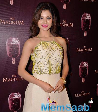 Urvashi Rautela Attractive Look During The Launch Of Magnum Ice cream