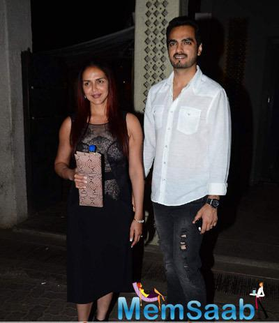 Esha Deol Snapped With Her Husband Bharat Takhtani At Phoenix Mill In Mumbai