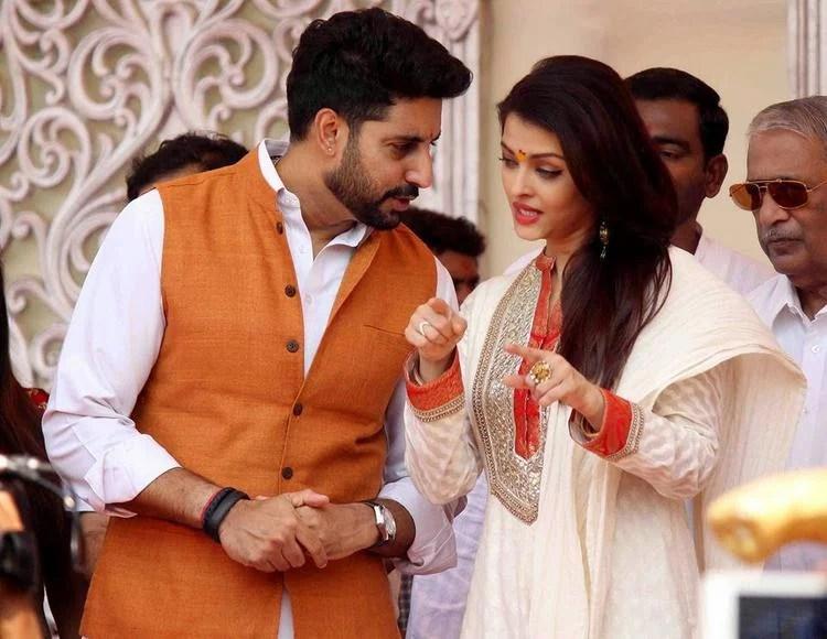 Abhishek And Aishwarya In A Deep Conversation At Gudi Padwa Celebrations