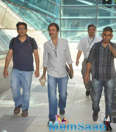 Bollywood Director Rajkumar Hirani Snapped At Domestic Airport