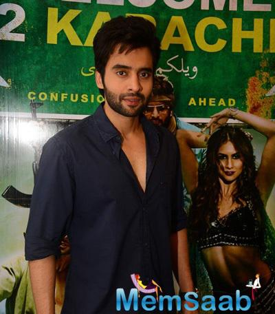 Jackky Bhagnani Handsome Look During The Promotion Of Welcome To Karachi