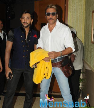 Terence Lewis Posing Happily With Jackie Shroff For The Shutterbugs