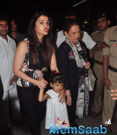 Aishwarya Leaves For Cannes With Aaradhya In Tow