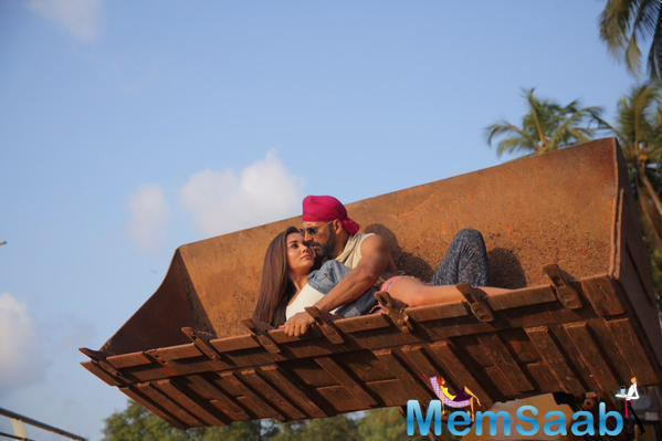 Akshay And Amy Shoots For Their Upcoming Flick Singh is Bling