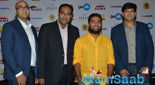 Arijit Singh Posed During The Press Meet Of 9XM Dome Concert