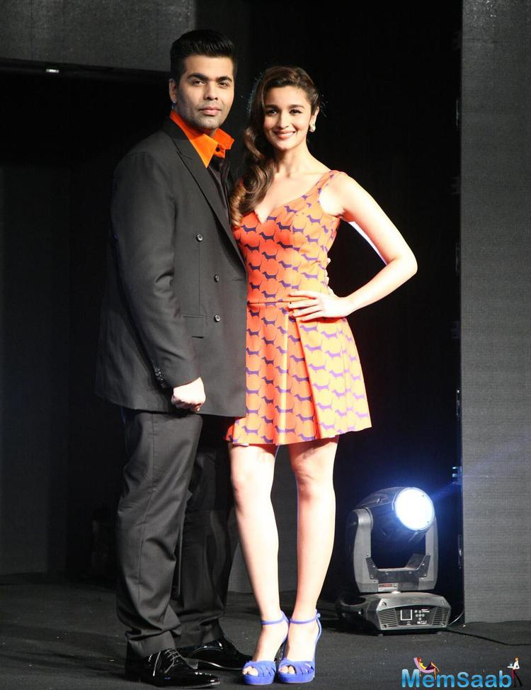 Alia Bhatt Joined By Karan Johar For The Launch Of Colors New Channel Launch Colors Infinity