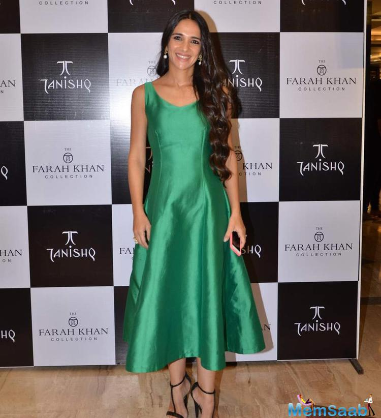 Tara Sharma Smiling Pose During The Launch Of Farah Khan Ali's New Collection