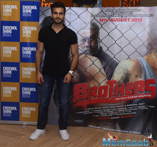 Karan Tacker Dashing Look In Black Tee At The Special Screening Of Brothers Movie