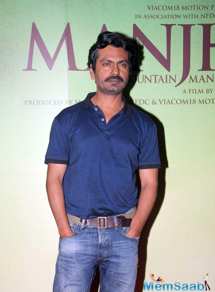 Nawazuddin Siddiqui Cool Casual Look At The Special Screening Of Manjhi