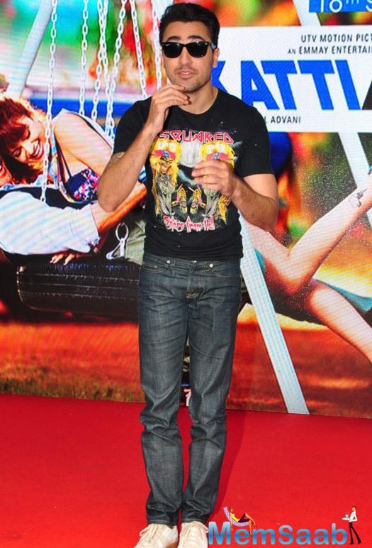 Imran Khan Cool Look During The Promotion Of Katti Batti Movie