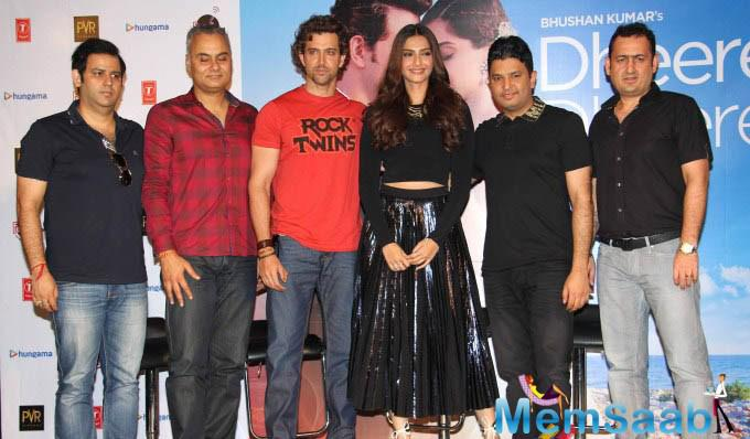 Hrithik Roshan, Sonam Kapoor And The Rest Of The 'Dheere Dheere' Team At The Launch Of The Song