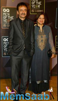 Rajkumar Hirani Who Won 'Director Of The Year' Award Attended The Event With His Wife.