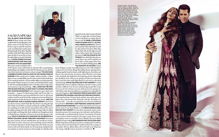 Salman Khan And Sonam Kapoor Looking Gorgeous Together In A Bridal Shoot