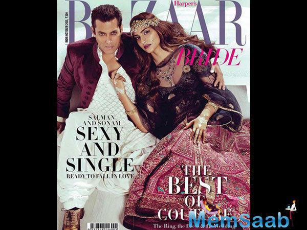 Sexy And Single Salman Khan-Sonam Kapoor Sizzled On Harper's Bazaar Bride Cover