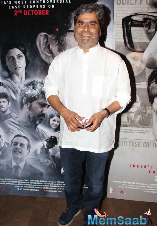Vishal Bhardwaj Attend During The Special Screening Of Talvar Movie