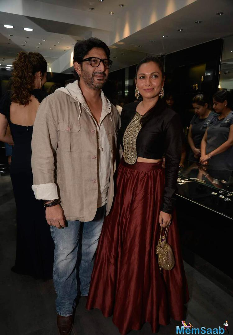 Arshad Warsi With Wife Maria Goretti At Shaheen Abbas For Gehna Jewellery Collection Unveiling