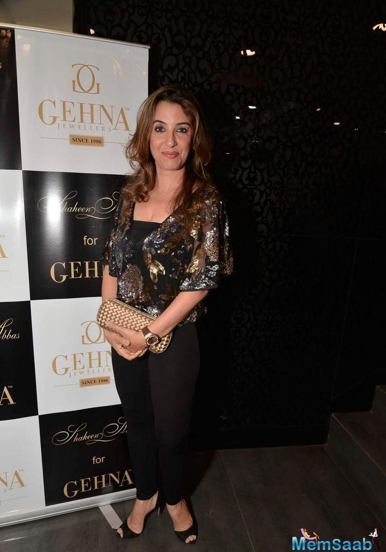 Perizaad Zorabian Attend The Shaheen Abbas Collection Launch In Gehna Store