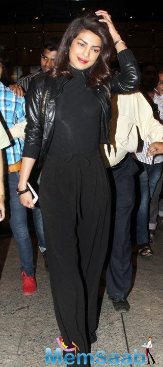 Priyanka Chopra Clicked During Her One-Day India Visit