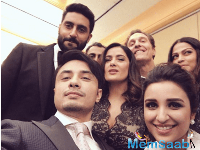 Akshay, Abhishek, Parineeti and Ali Zafar are in Dubai to attend the Global Teachers Prize ceremony and look who all they bumped into.
