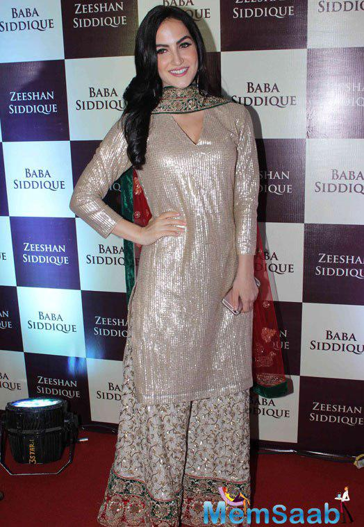 Baba Siddique and Zeeshan Siddique's annual Iftaar dinner have always been in the limelight. Bollywood biggies witnessed the party on Sunday night. Elli Avram during the Party