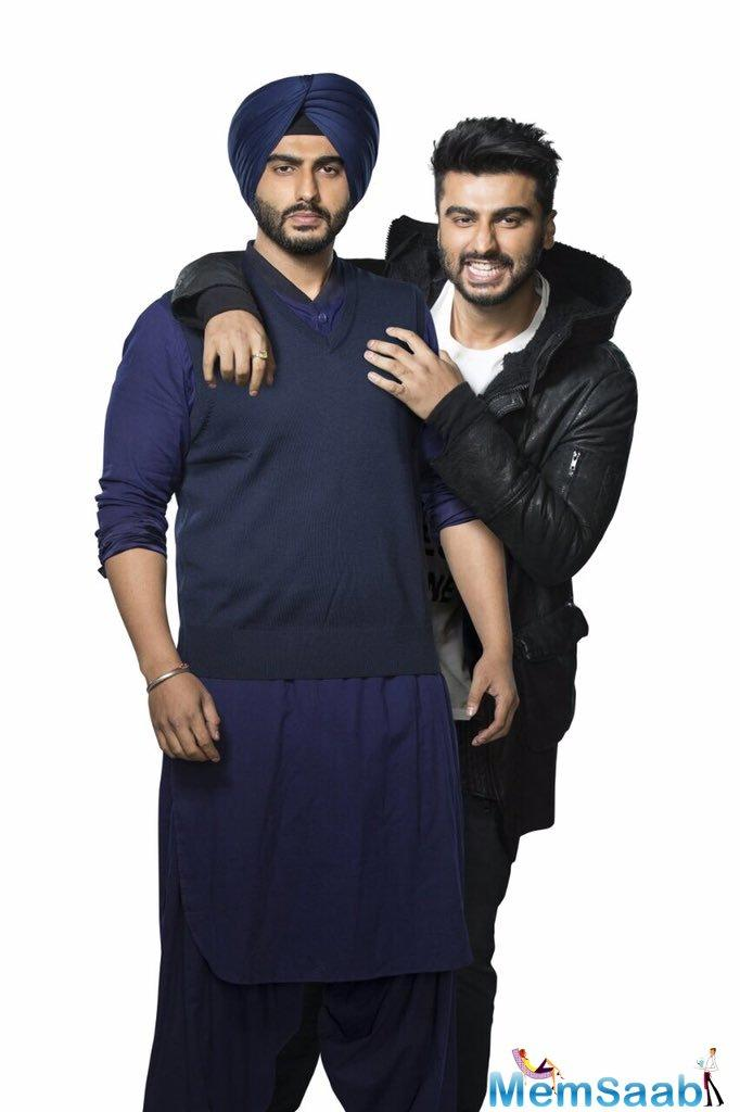 And now, here they have put another interesting update, The first look of Mubarakan is out and it holds not one, but two Arjun Kapoors. Confused?