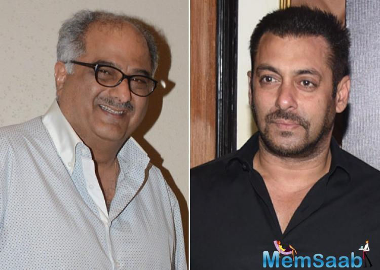 Boney says the book is nearly ready for the second region and he hopes Salman says yes to the project.