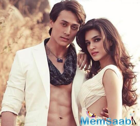 Tiger and Kriti worked together in romantic action film 'Heropanti', Which was a debut movie in Bollywood of them.