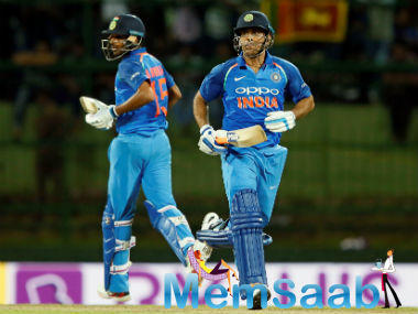 India got away to a flying start with openers Rohit Sharma (54) and Shikhar Dhawan (49) firing on all cylinders. Indeed, at 109-0from 15.2 overs, they seemed like they were cruising to victory.