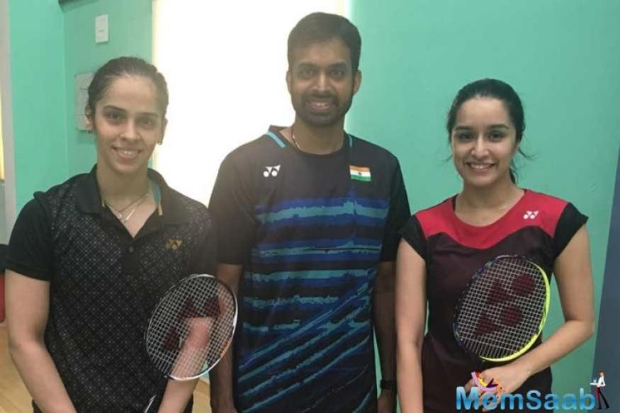 Shraddha Kapoor has started preparing for her forthcoming role in the Saina Nehwal biopic with the ace badminton player.