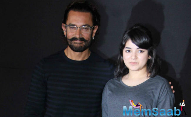 In her second Bollywood outing 'Secret Superstar', Zaira has teamed up with Aamir again.