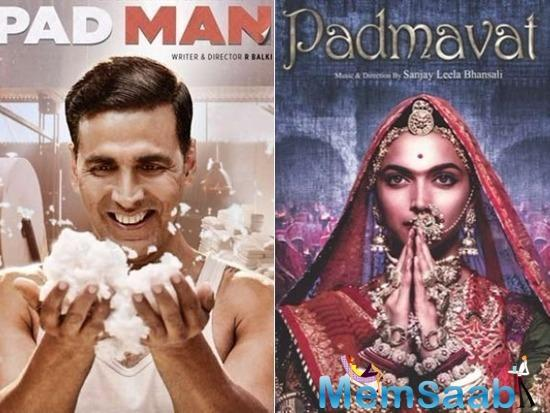 Her next release 'Padman' is all set for box office clash with 'Padmaavat.'