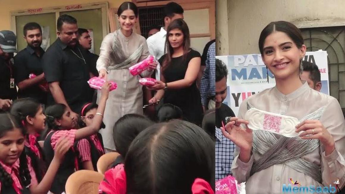 Highlighting the plight of rural women in their menses, the piece sees Kapoor listing the ways in which temporary sanitary napkins are created.