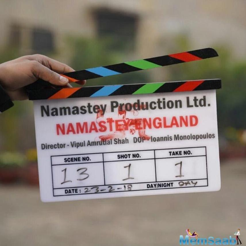 Actors Parineeti Chopra and Arjun Kapoor started shooting for their upcoming film 'Namastey England' in Amritsar on Friday.