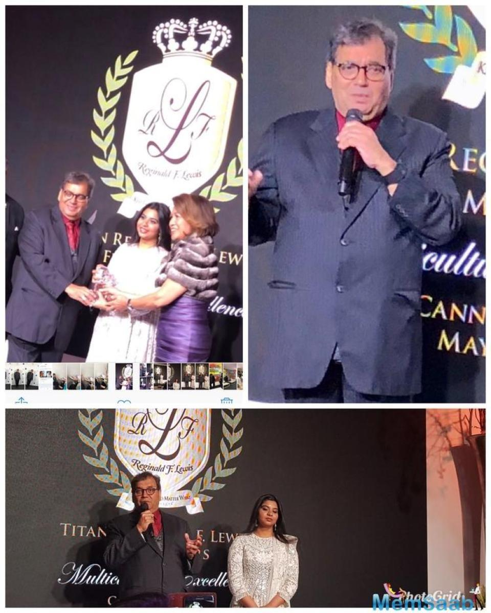 Sridevi was honoured with the TITAN Reginald F Lewis Film Icon Award at the ongoing Cannes Film Festival.