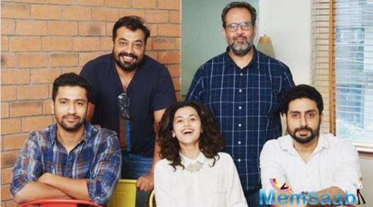 Directed by Anurag Kashyap, and produced by Aanand L Rai, the film shares a story of love triangle between Vicky, Taapsee and Abhishek. Where everything is complicated because of the people!