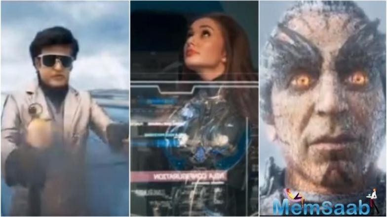 The trailer of superstar Rajinikanth's forthcoming multilingual science-fiction action drama 2.0 was unveiled on Saturday at a grand event.