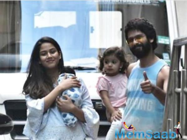 Amidst the celebration of lights, Shahid Kapoor's wife Mira Rajput gave their fans a cute bundle of surprise.