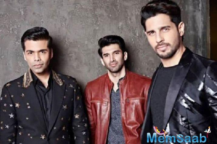 Bolywood heartthrobs Sidharth Malhotra and Aditya Roy Kapur are the latest to join the wagon as they have shot the episode of Koffee with Karan.