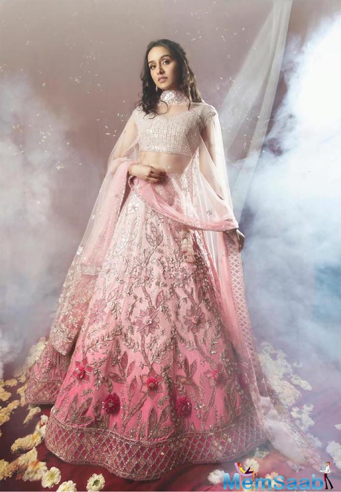 Shraddha Kapoor looked no less than an angelic princess in this pink lehenga